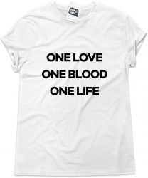 Camiseta e bolsa U2 - One love One blood One life