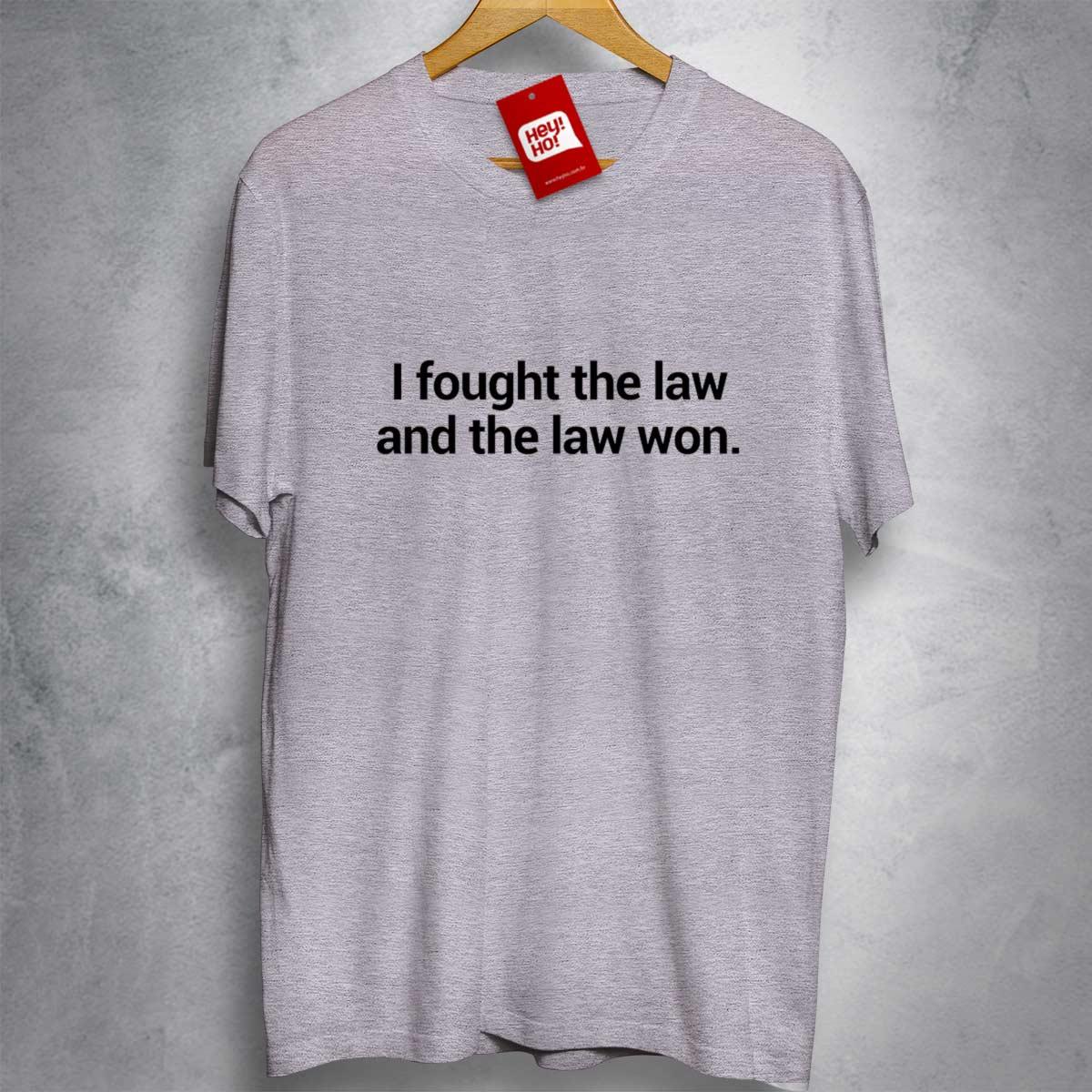 OFERTA - THE CLASH - I fought the law and the law won - CAMISETA MESCLA CLARA - Tamanho M