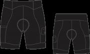 Bermuda Ciclismo Black Tie - Longa - EQUIPE SKY
