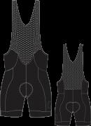 Bretelle Ciclismo Black Tie  - EQUIPE SKY