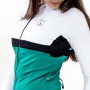 Camisa Ciclismo Aussie Jade / White - Feminina