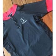 Camisa Ciclismo Black / Wine kid's Unissex