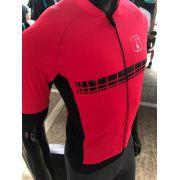 Camisa Ciclismo Racing Evo Wine - Feminina