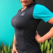 T-Shirt Black Jade White Enduro - Feminina