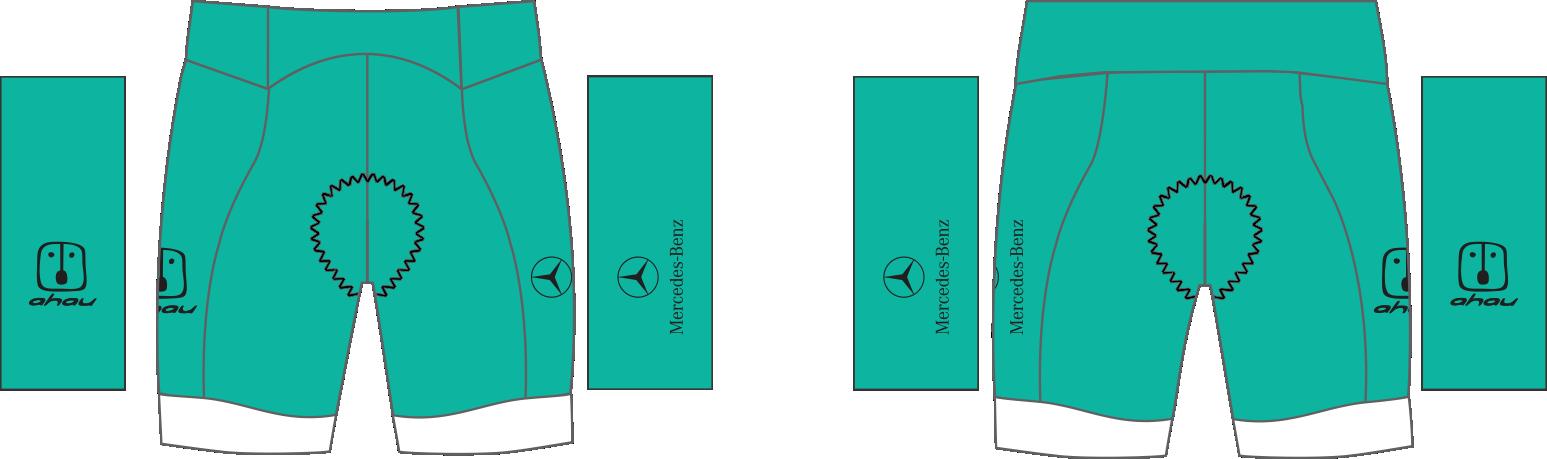 3.   Bermuda Ciclismo Ahau Team 2020 Jade / White