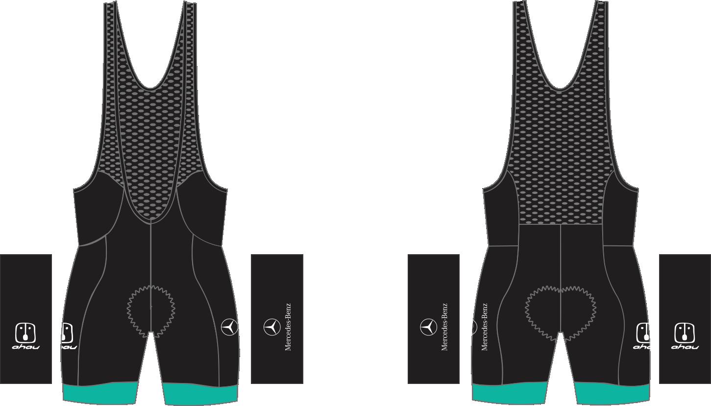 2.  Bretelle Ciclismo Ahau Team 2020 Black