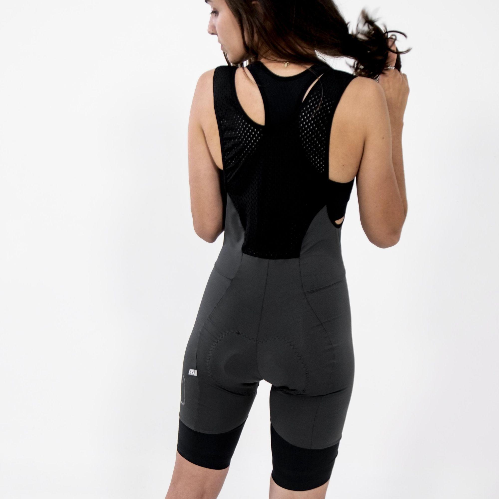 Bretelle Ciclismo Charcoal - Feminino