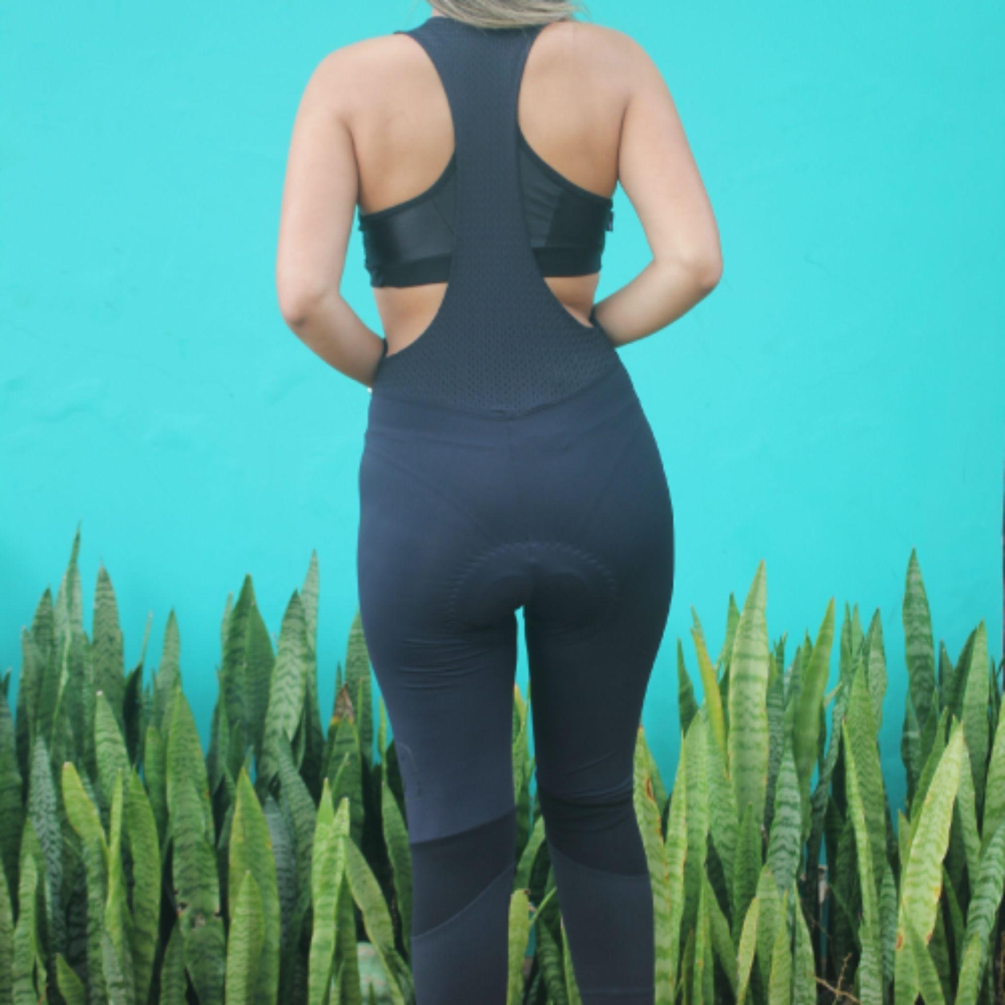 Calça Bretelle Ciclismo Black Tie - Feminino