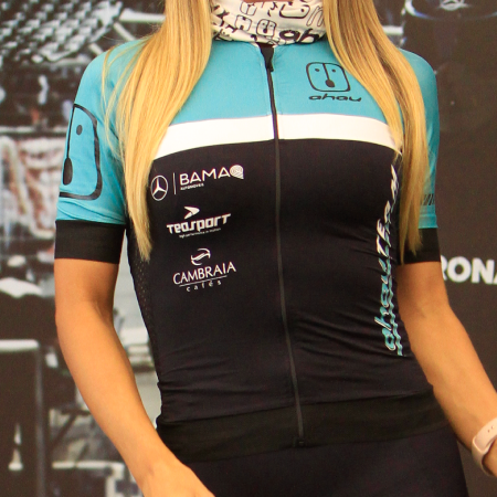 Camisa Ahau Team 2021 Jade/Preta - Feminina