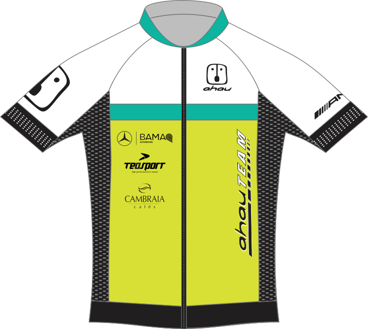 1. Camisa Ciclismo Ahau Team 2020 Black EVO / White