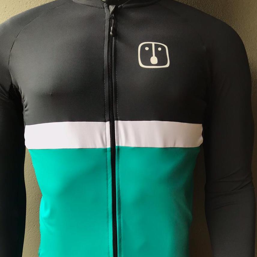 Camisa Ciclismo Aussie Dark Jade - Manga Longa - Feminina