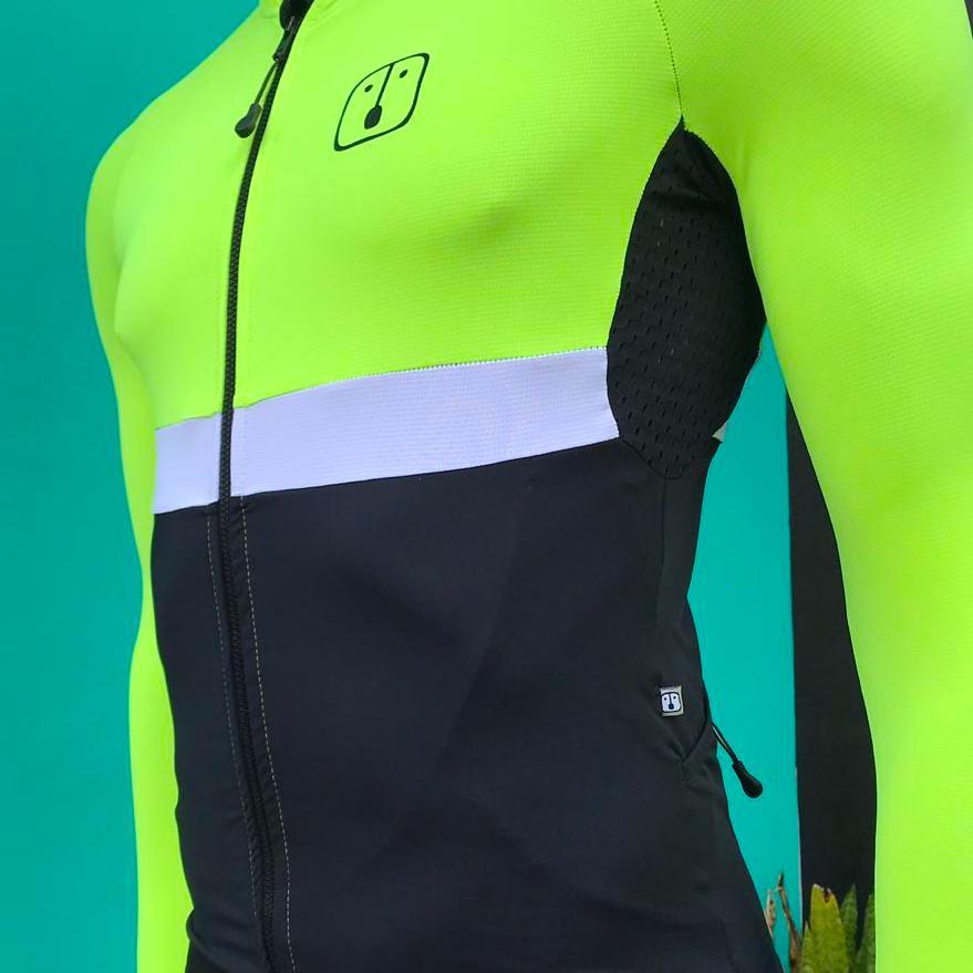 Camisa Ciclismo Aussie Dark Neon - Manga Longa - Masculina