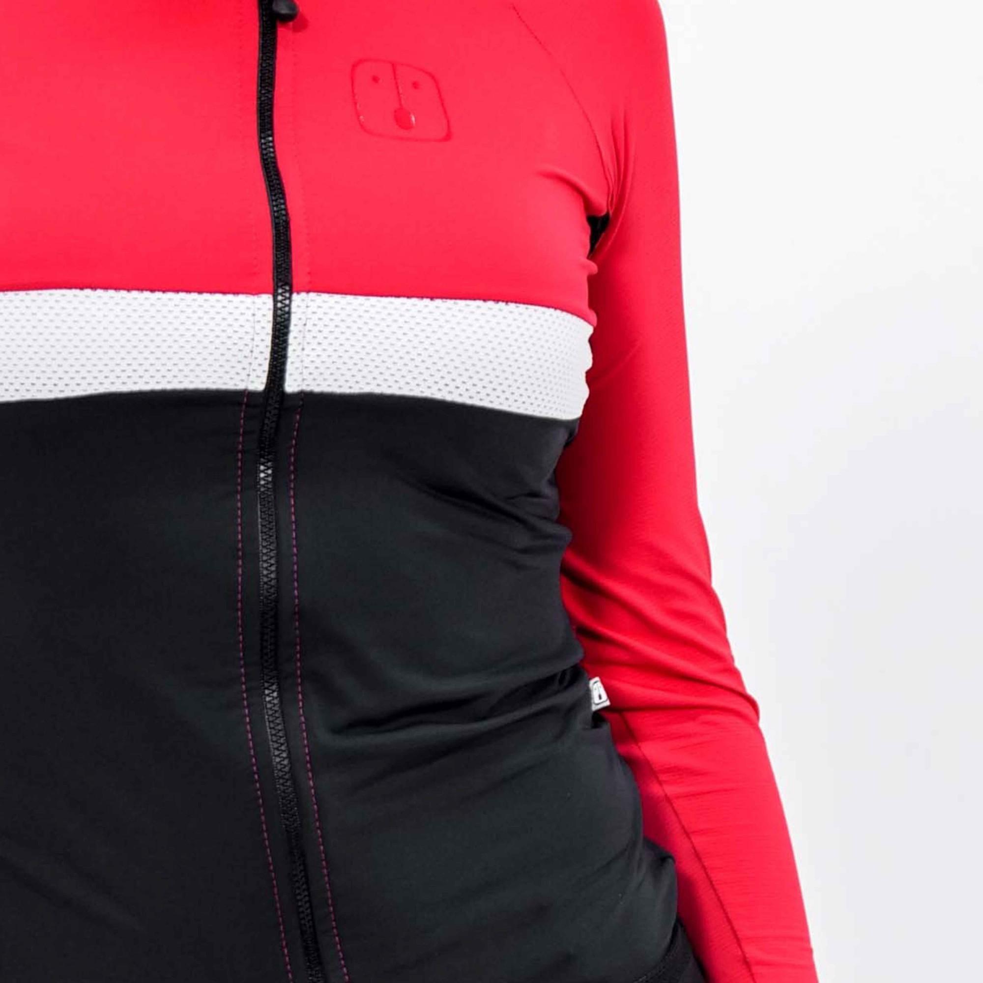 Camisa Ciclismo Aussie Dark Wine - Manga Longa - Feminina