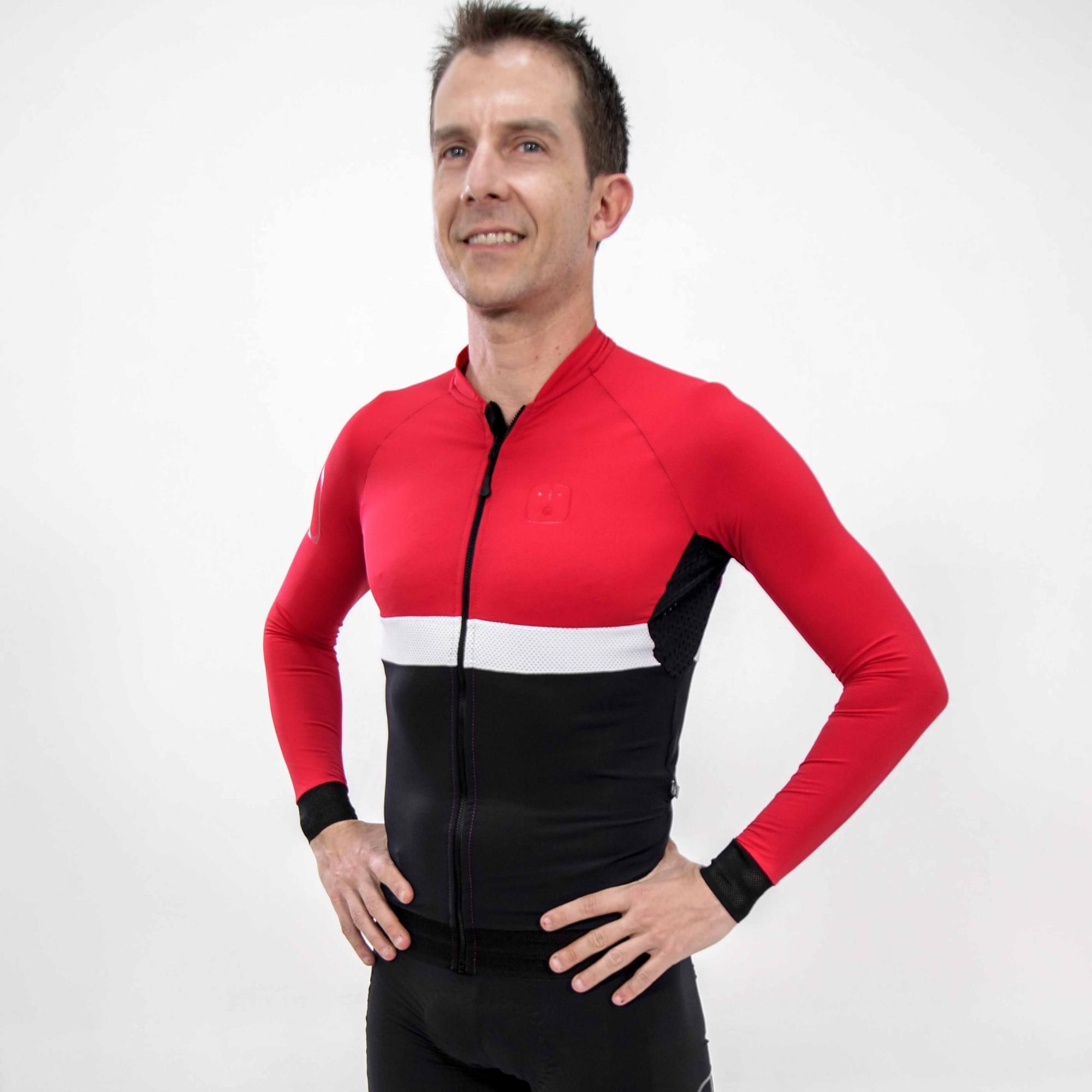 Camisa Ciclismo Aussie Dark Wine - Manga Longa - Masculina