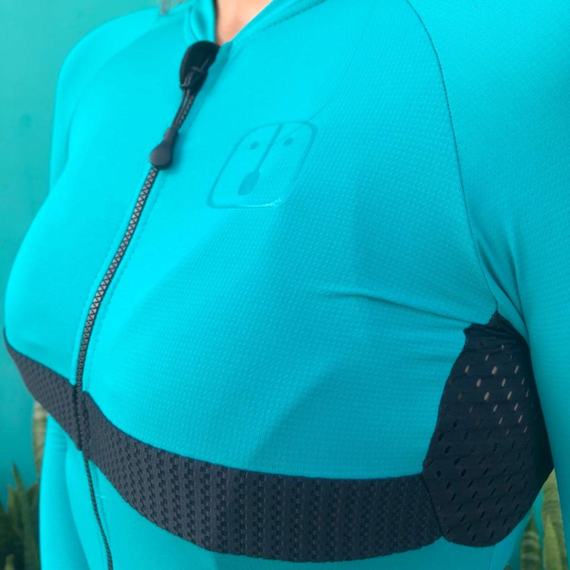 Camisa Ciclismo Aussie Full Jade Light - Feminina