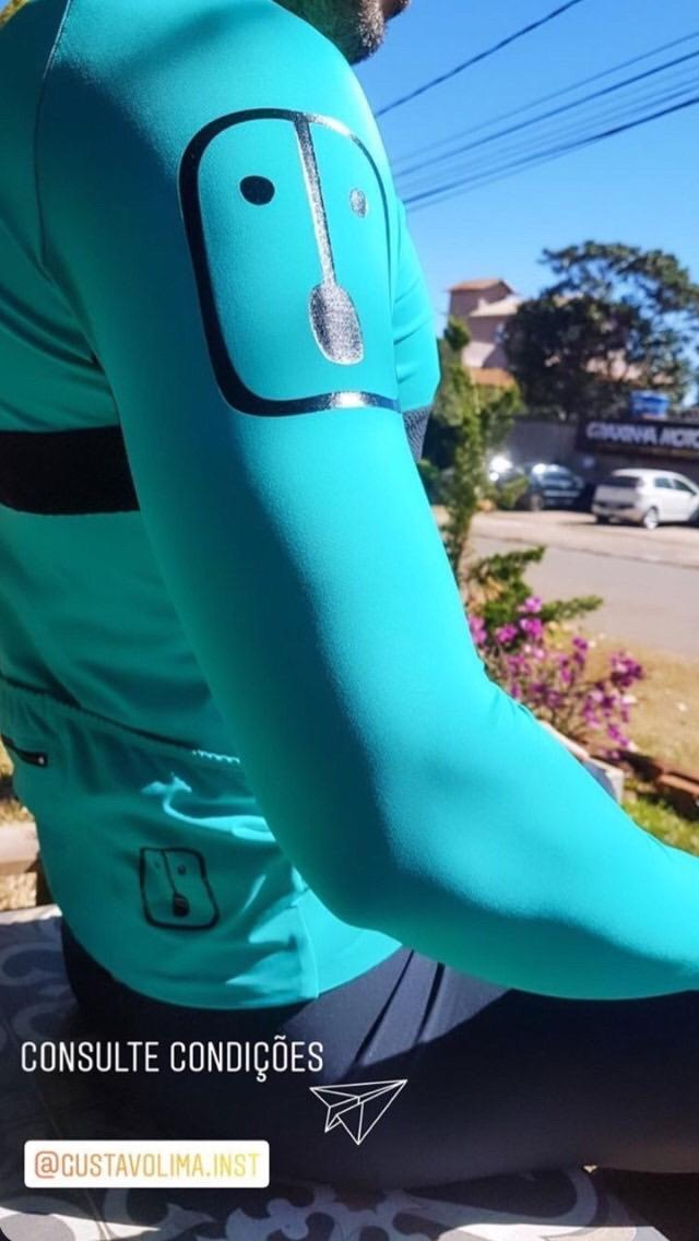 Camisa Ciclismo Aussie Full Jade - Manga Longa - Feminina