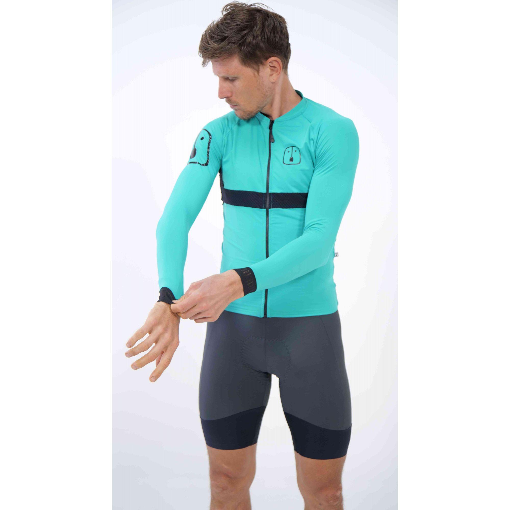 Camisa Ciclismo Aussie Full Jade - Manga Longa - Masculina