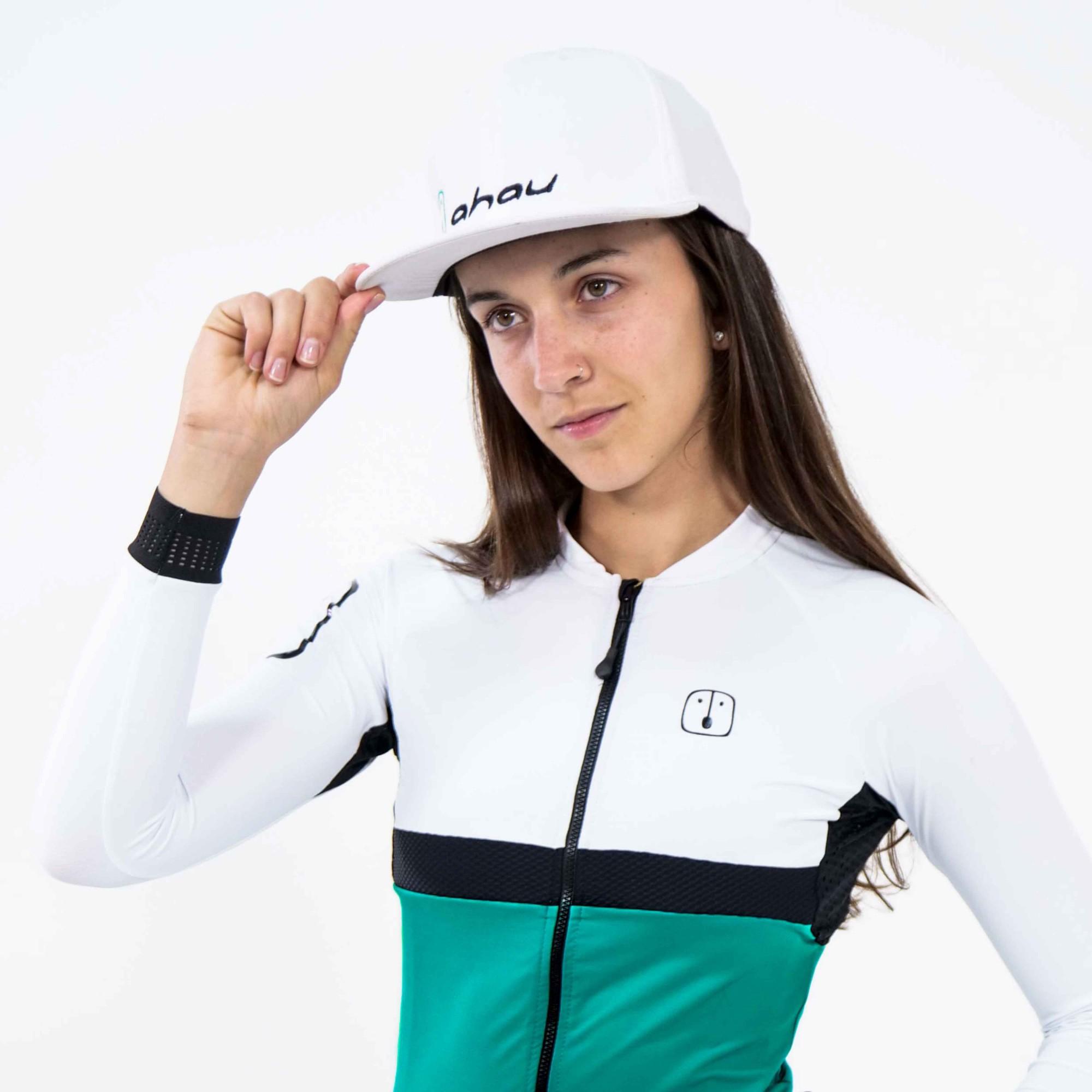 Camisa Ciclismo Aussie Jade White - Manga Longa - Feminina