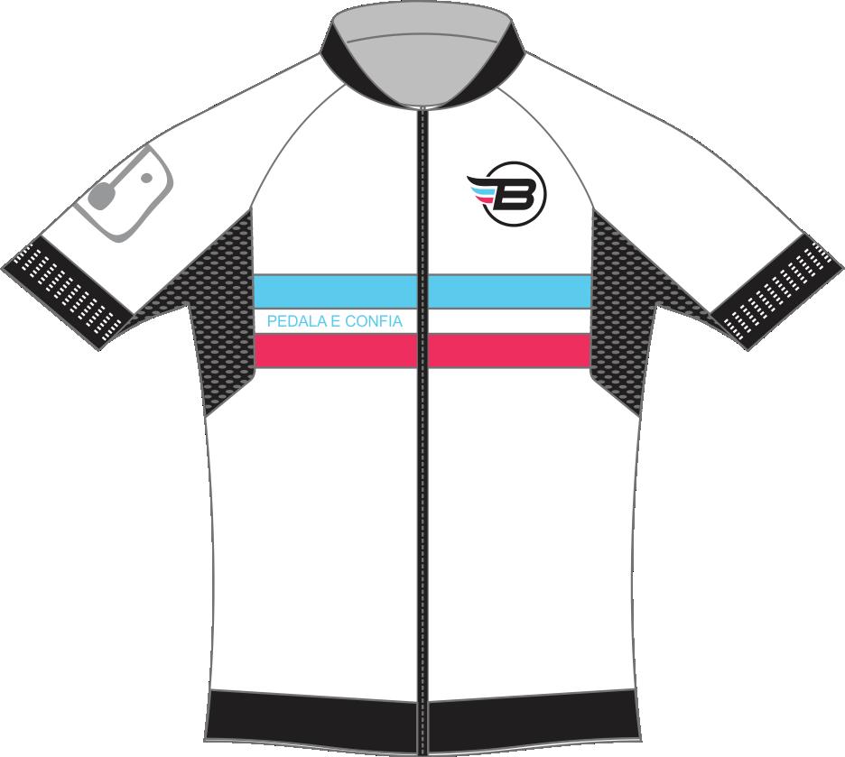Camisa Ciclismo BikES Branca Rosa