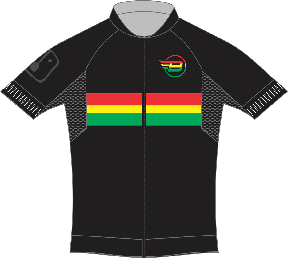 Camisa Ciclismo BikES Preto Rasta
