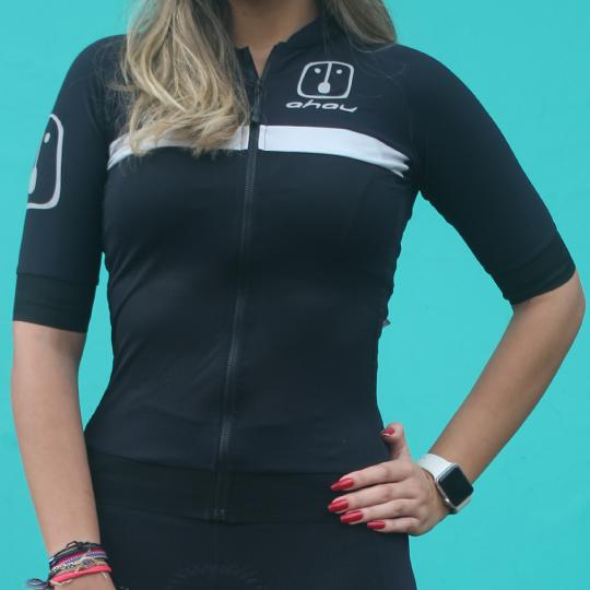 Camisa Ciclismo Black Tie Silver - Feminina