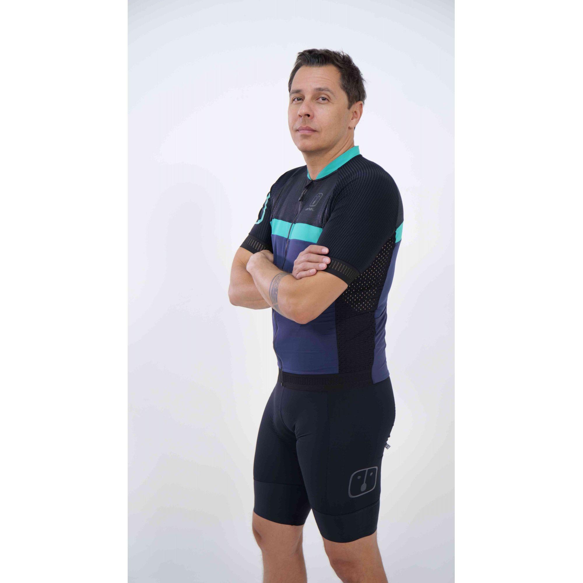Camisa Ciclismo Navy SKIN - Masculina