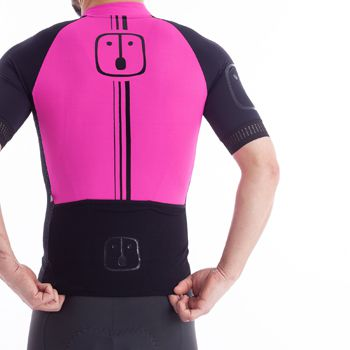 Camisa Ciclismo Label Pink Chumbo  - Masculina