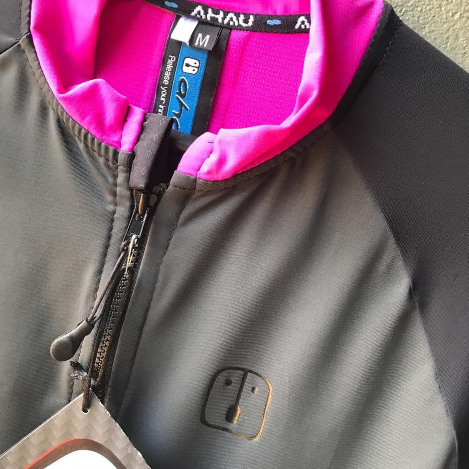 Camisa Ciclismo Label Pink Chumbo  - Feminina
