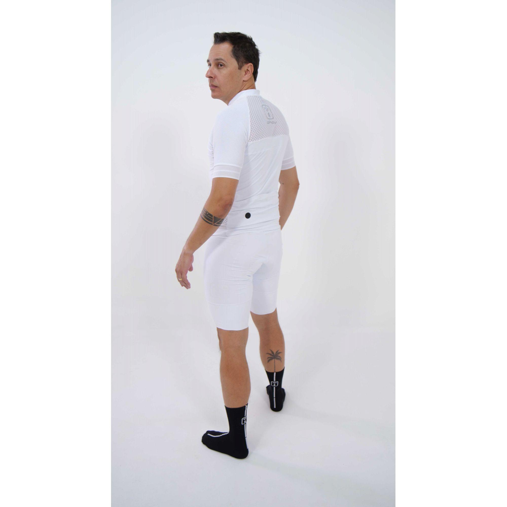 Camisa Ciclismo Luz White - Masculina