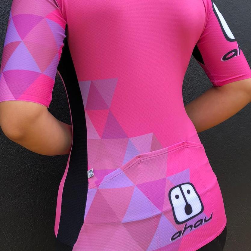 Camisa Ciclismo PES Rosa