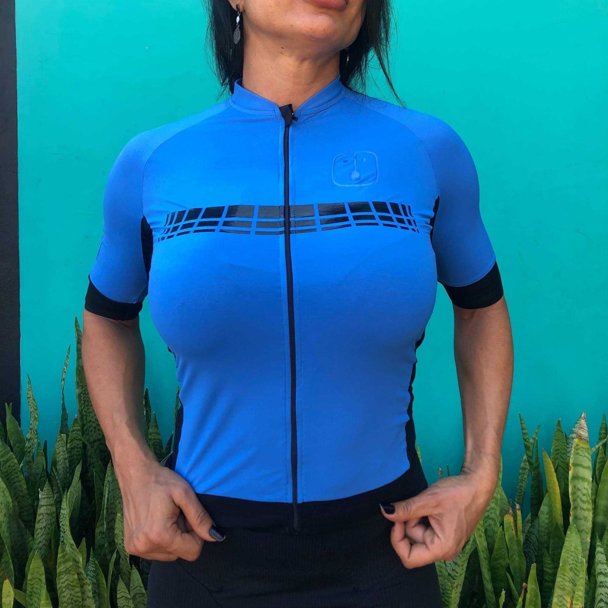 Camisa Ciclismo Racing Blue - Feminina