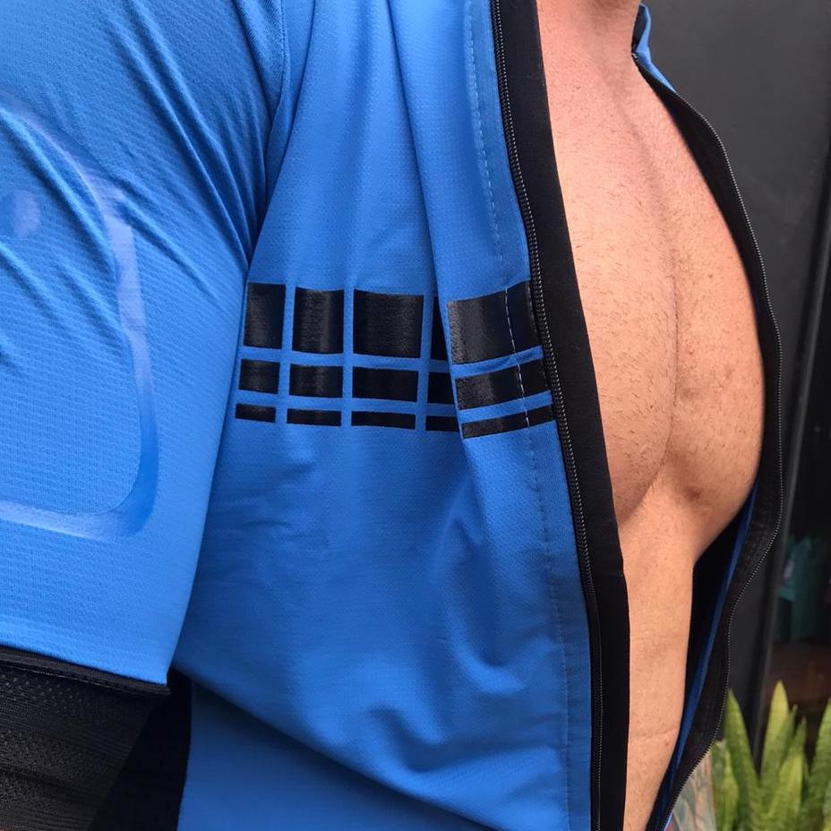 Camisa Ciclismo Racing Evo Blue  - Masculina