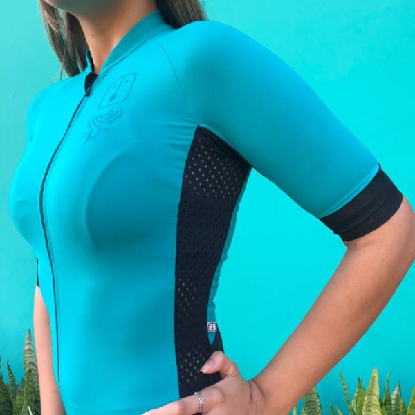 Camisa Ciclismo Racing Evo Jade - Feminina