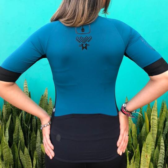 Camisa Ciclismo Racing EVO OLIVE - Feminina