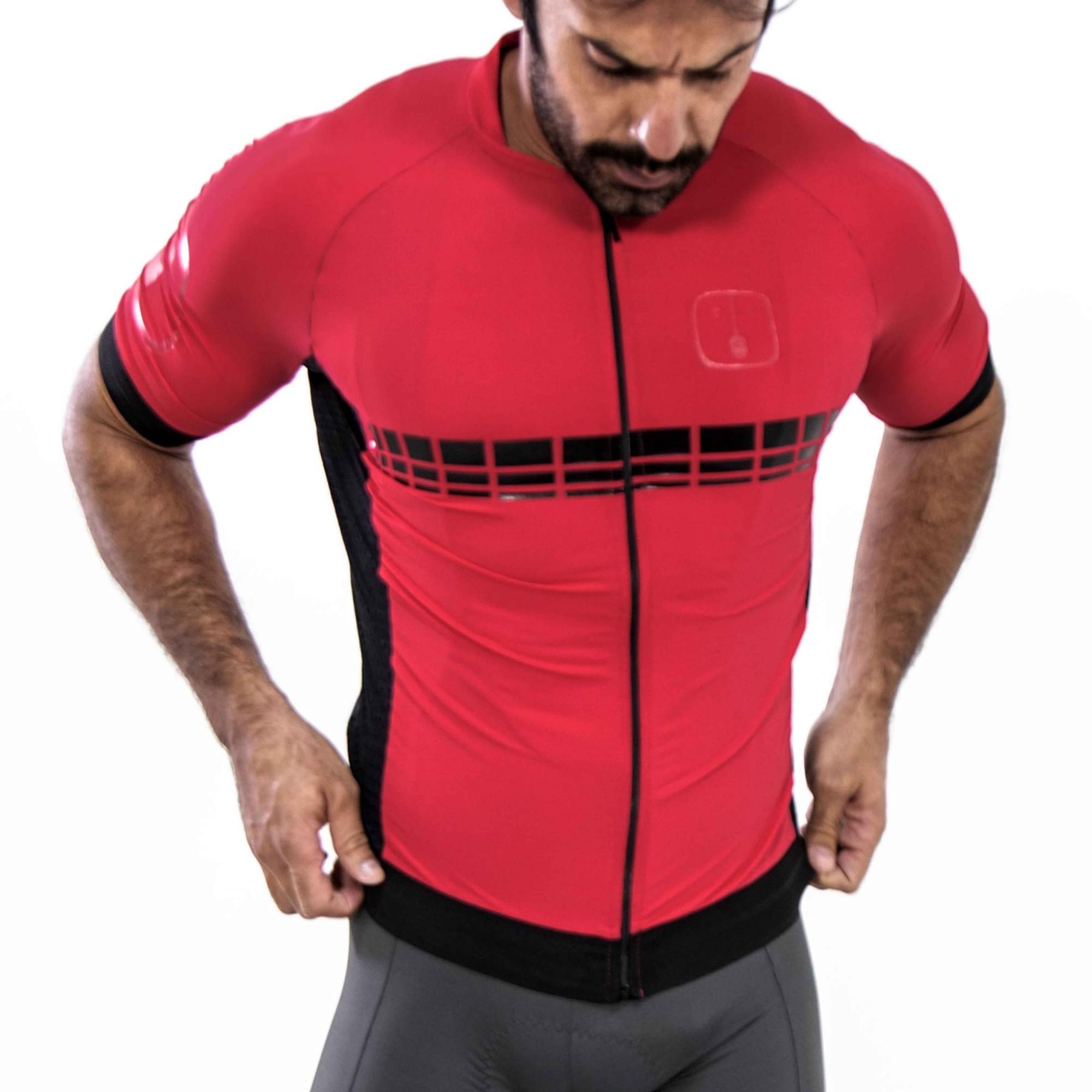 Camisa Ciclismo Racing Evo Wine - Masculina