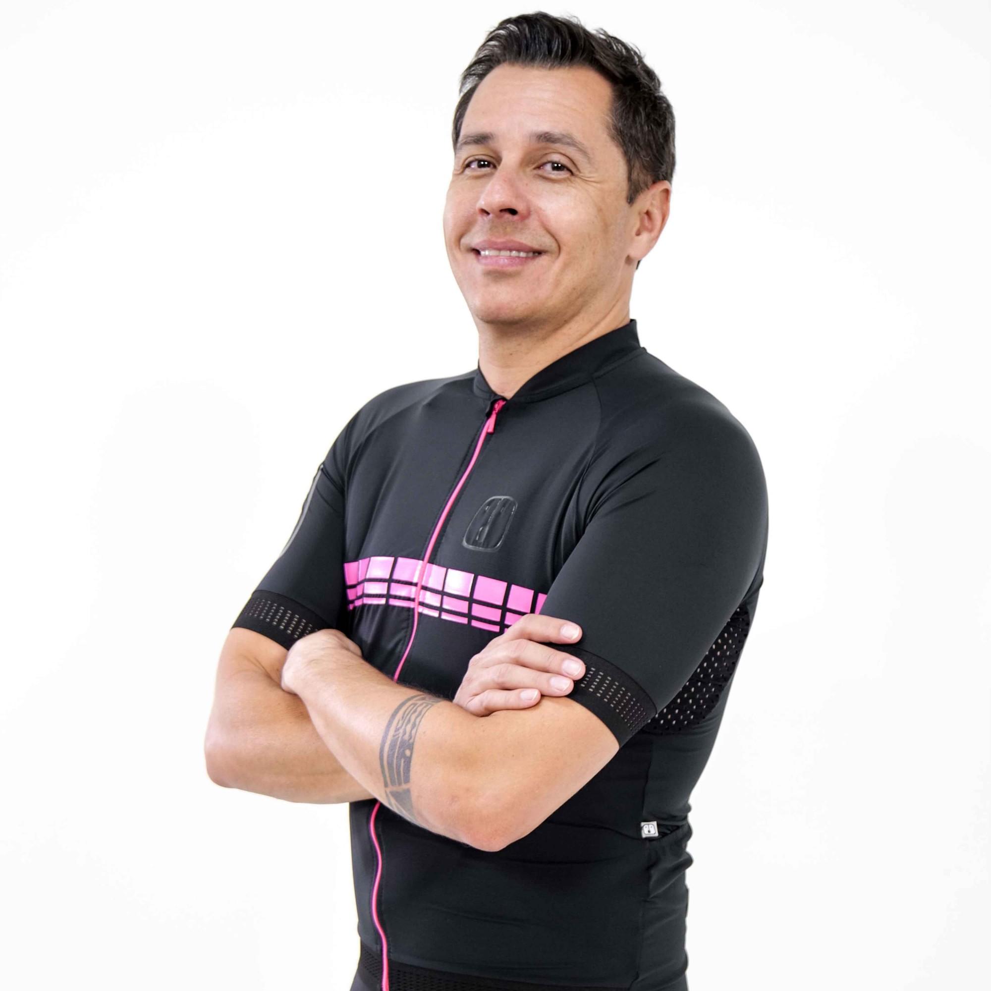 Camisa Ciclismo Racing EVO Black Pink