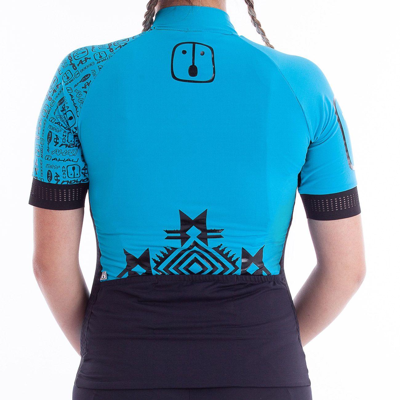 Camisa Ciclismo Racing Warrior Sky - Feminina