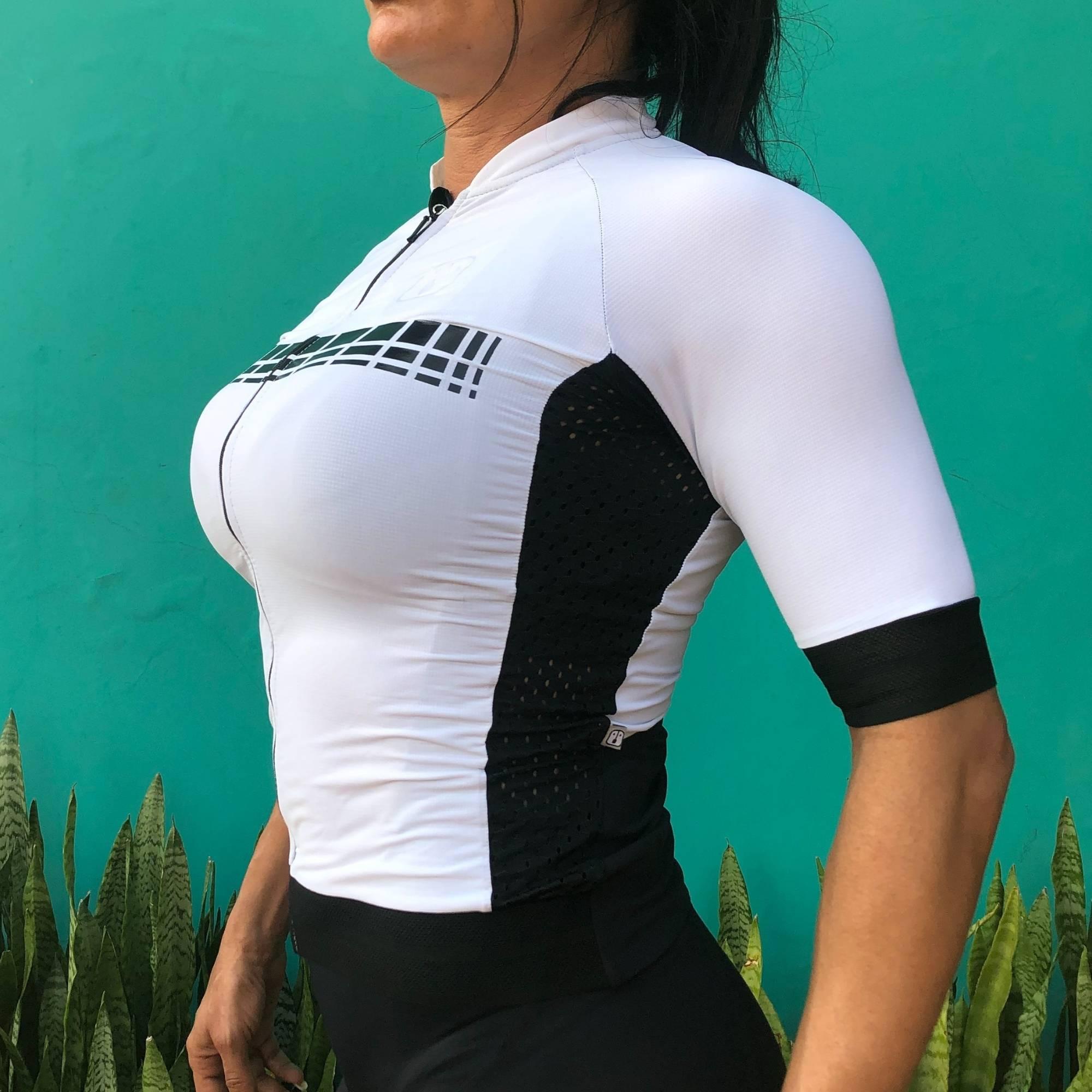 Camisa Ciclismo Racing White - Feminina