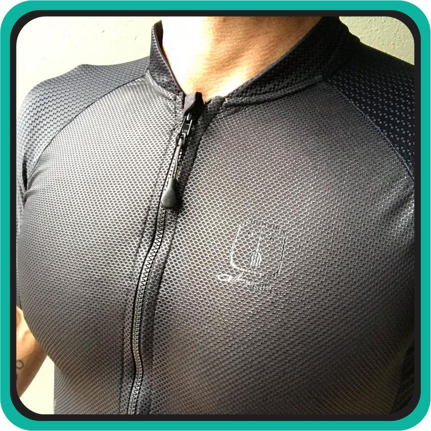 Camisa Ciclismo Warrior Black SKIN