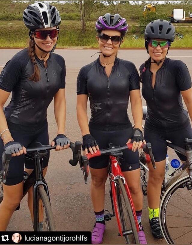 Camisa Ciclismo Warrior Black SKIN - Masculina