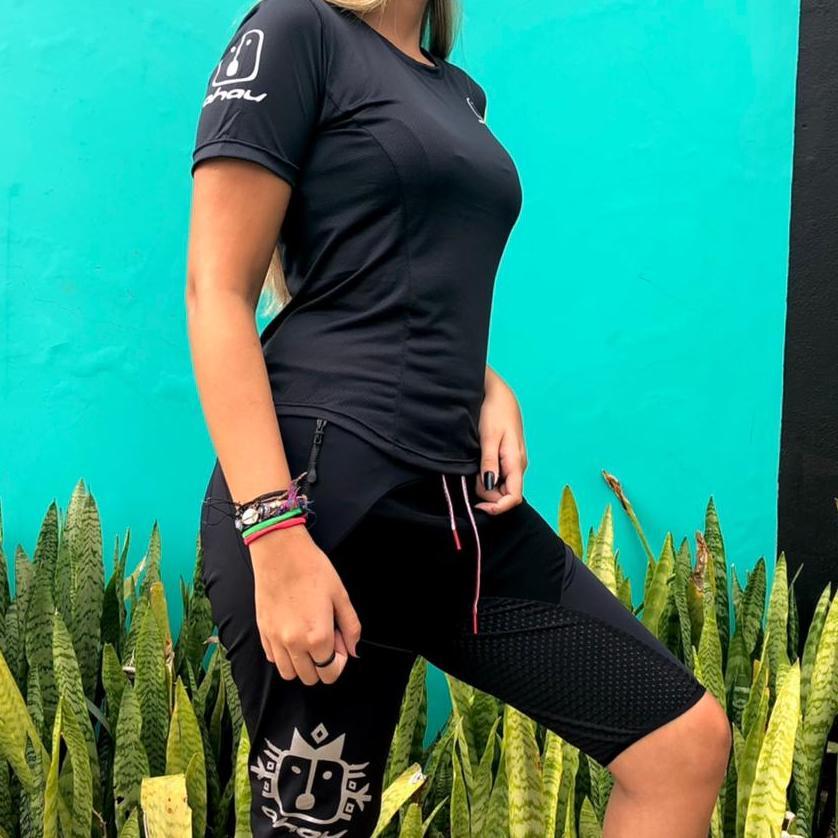 T-Shirt Black Neon Enduro - Feminina