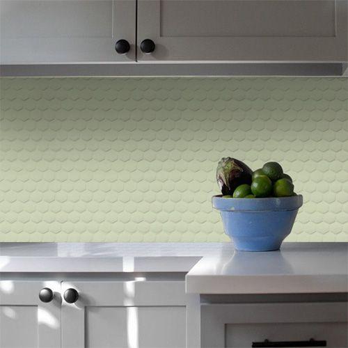 Pastilha Adesiva Colmeia Verde Menta (Unitário) 30x30cm