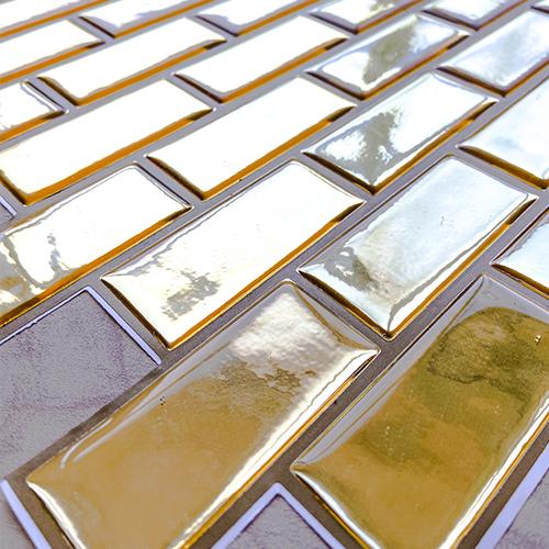 Pastilha Adesiva Chicle Cromado Ouro (Unitário) 30x30cm