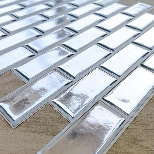 Pastilha Adesiva Chicle Cromado Prata (Unitário) 30x30cm