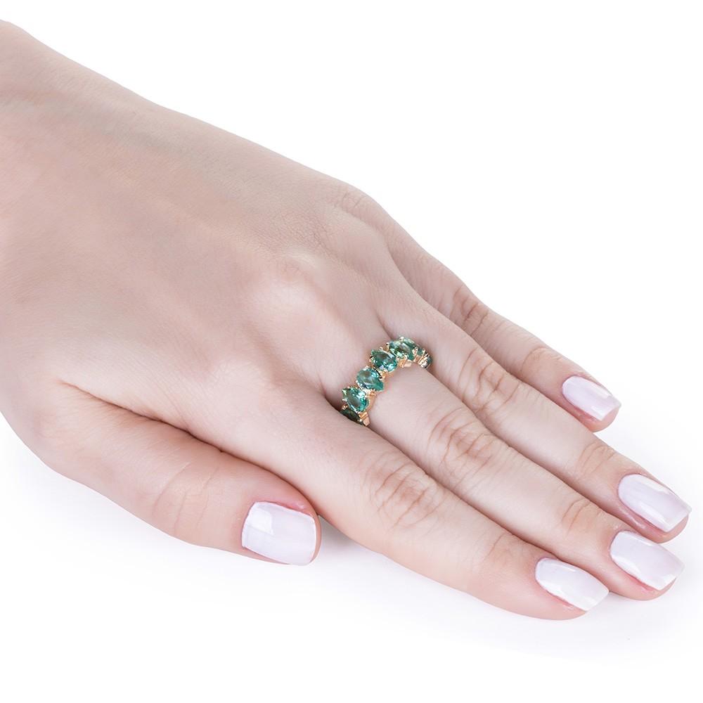 Anel Arco Cristal Verde