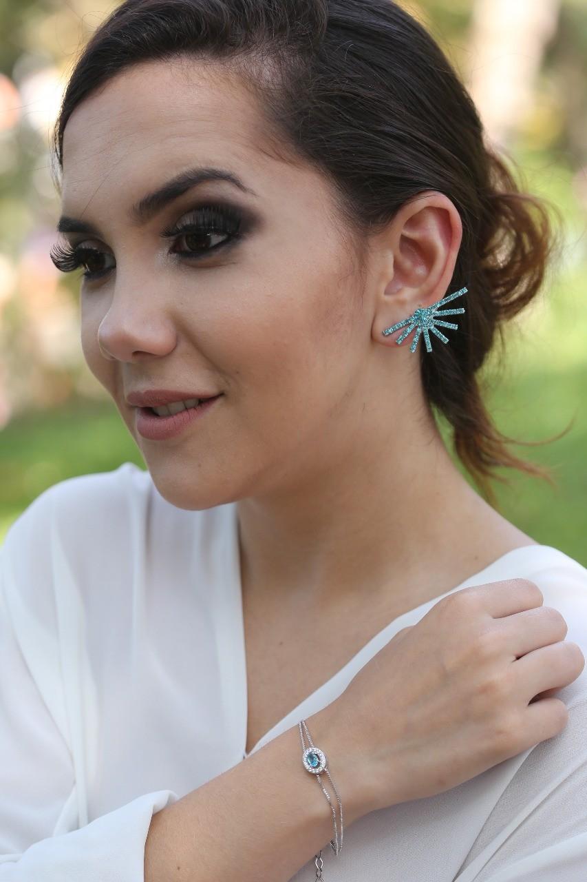 Brinco Ear Cuff Aquamarine