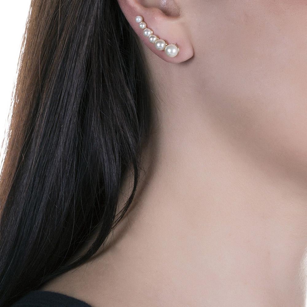 Brinco Ear Cuff de Pérola