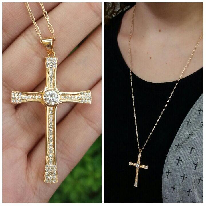 Crucifixo Cravejado com Zircônia
