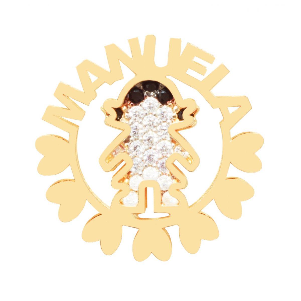 Mandala Filho (a) com nome cravejada