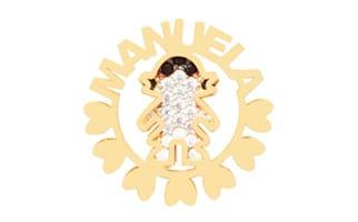 Pingente Mandala Menina com Nome